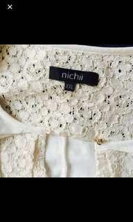 Nichii White Lace Top
