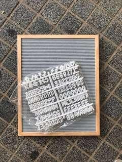 Letterboard grey felt
