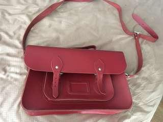 BN leather satchel bag from london