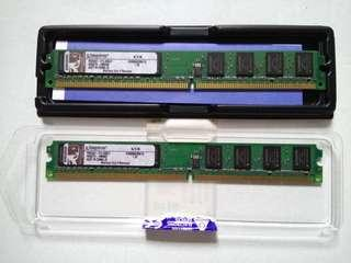 Kingston Ram DDR2 2x 1Gb for Desktop PC