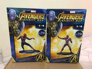 Marvel Sega Avengers Infinity War Ironman & SpiderMan Bundle Iron Man Spider Man