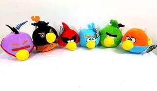 Preorder Brand New Angry Birds 6pcs Plush