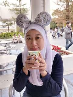 Preloved Original Tokyo Disneyland Minnie Mouse Silver Headband