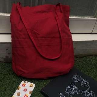 Red Totebag / totebag merah