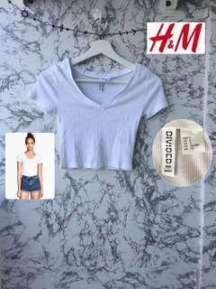 H&M V neck crop