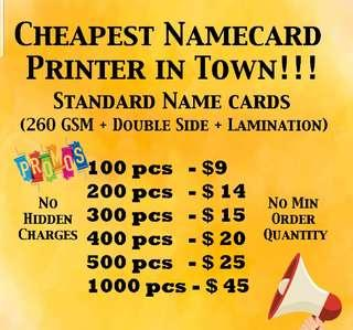 Name cards printing business cards