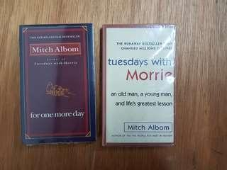 🚚 1) For One More Day. 2) Tuesdays with Morrie