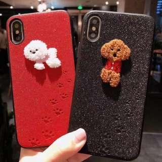 Dog glitter phone case