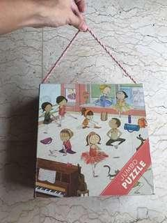 Preloved mudpuppy jumbo jigsaw puzzle mainan anak