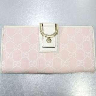 Gucci Logo Pink Long Wallet