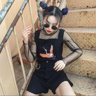 🚚 仙鶴刺繡背心套裝