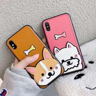 Dog card holder phone case