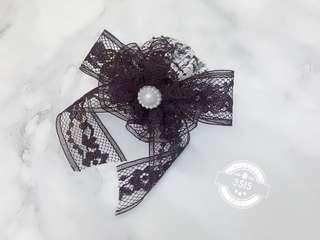 ❤️handmade ❤️黑色lace帽子髮夾