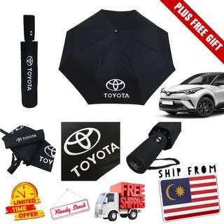 [READY STOCK] Official Payung TOYOTA Automatic Umbrella. FREE POSTAGE & GIFT