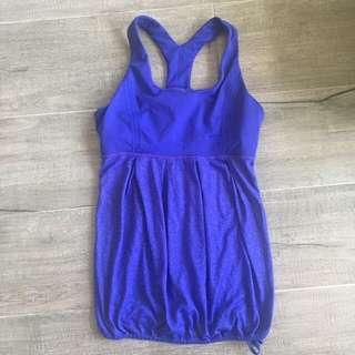 LULULEMON WORKOUT TOP (ROYAL BLUE)
