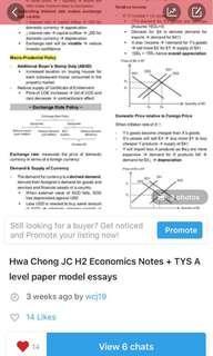 Hwa Chong JC Economics Notes + TYS Model Essays