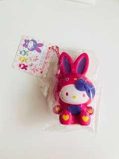 Hello Kitty In A Pink Bunny Costume Squishy