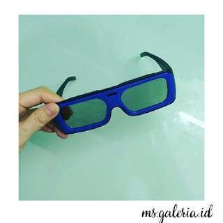 3D Blue Glasses kacamata 3D