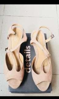 reprice wedges pink nude details