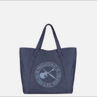 🚚 A.P.C.法國 CABAS PLAGE 藍色環保購物袋 現貨 媽媽包 大方包 手提包 Apc