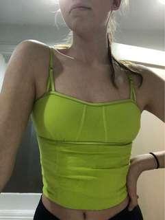 Y2K Green Tank Top Shirt