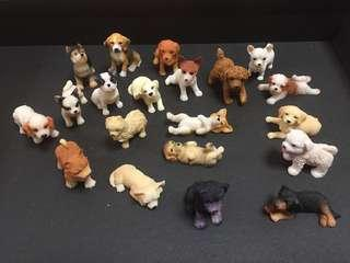 🚚 Miniature rare 20 doggy collection
