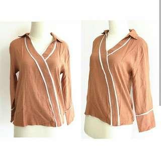 Brown top long sleeves