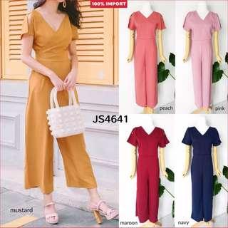 Long Jumpsuit Polyester Fit to L