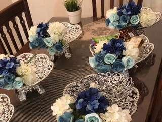 Dulang Hantaran + artificial flowers (RENT)