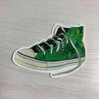 🚚 Converse Chuck Taylor Sneakers Waterproof Stickers