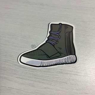 🚚 Adidas Yeezy 750 Boost Sneakers Waterproof Stickers