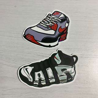 3503a4e4195c Nike Air Max   Air Uptempo Sneakers Waterproof Stickers