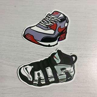 🚚 Nike Air Max & Air Uptempo Sneakers Waterproof Stickers