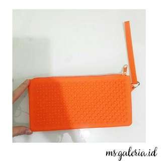 Orange Silikon Pouch