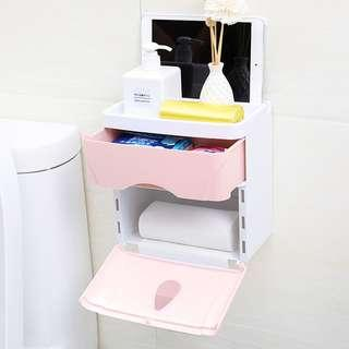 paper holder toilet accessories Non-perforated wall-mounted toilet roll box toilet waterproof paper towel box toilet paper holder-intl