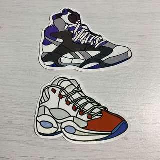 🚚 Reebok Basketball Shoes Sneakers Waterproof Stickers
