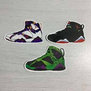 c4ca533f24936d Nike Air Jordan 7 (AJ7) Sneakers Waterproof Stickers