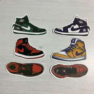 f8e7b7ed7aaef7 Nike Air Jordan 1 (AJ1)   AJ1 Mid Sneakers Waterproof Stickers