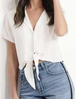 Dynamite cream knot top