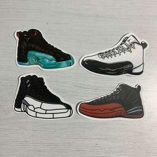 46b35c3e1b02bf Nike Air Jordan 12 (AJ12) Sneakers Waterproof Stickers