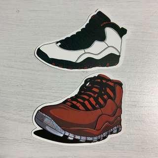 968d7998716a09 Nike Air Jordan 10 (AJ10) Retro Sneakers Waterproof Stickers