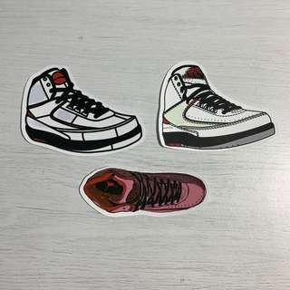 0fee73e30998f8 Nike Air Jordan II (AJ2) Sneakers Waterproof Stickers