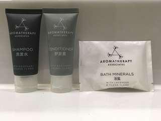Aromatherapy Associates travel set 旅行套裝 Shampoo Conditioner Bath salt