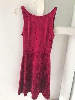 Velvet Dress - Maroon