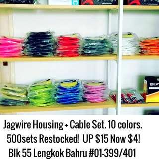 Jagwire 500 sets Cable+ Housing Set restocked usual $15, now $4!!! 10colors.