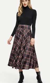 SHEIN Oxford Skirt Tartan