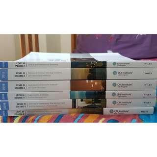 2018 CFA Level 3 books