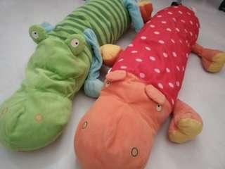 IKEA's crocodile and hippo plush