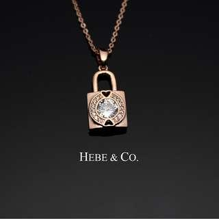 Hebe & Co. - 18k Rose Gold plated padlock pendant necklace (RRP: RM89.00)