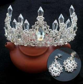Crown set anting